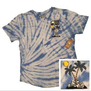 Island Of Skulls Marble Tie Dye Dikotomy Shirt NWT